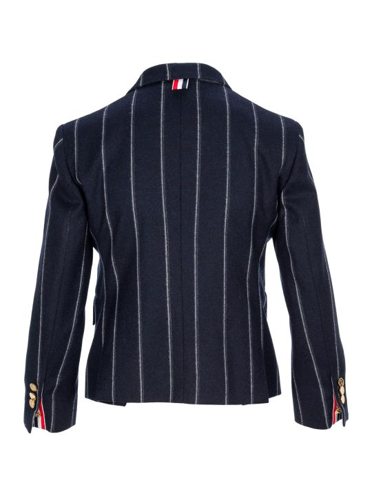 Thom Browne Shadow Stripes Flannel Sport Jacket