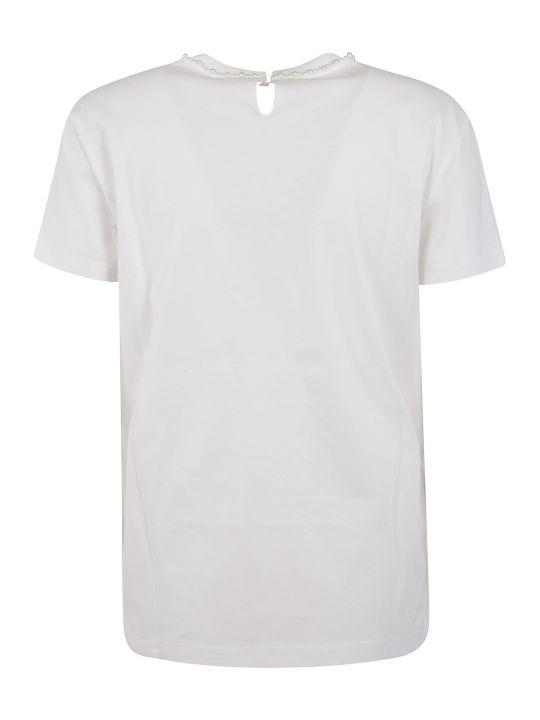 Miu Miu Pearly Bow Detail T-shirt