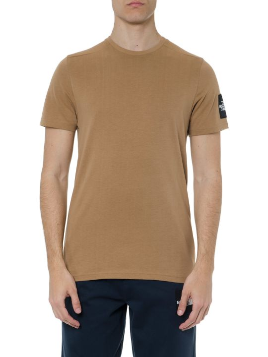The North Face T Shirt In Sand Cotton With Logo