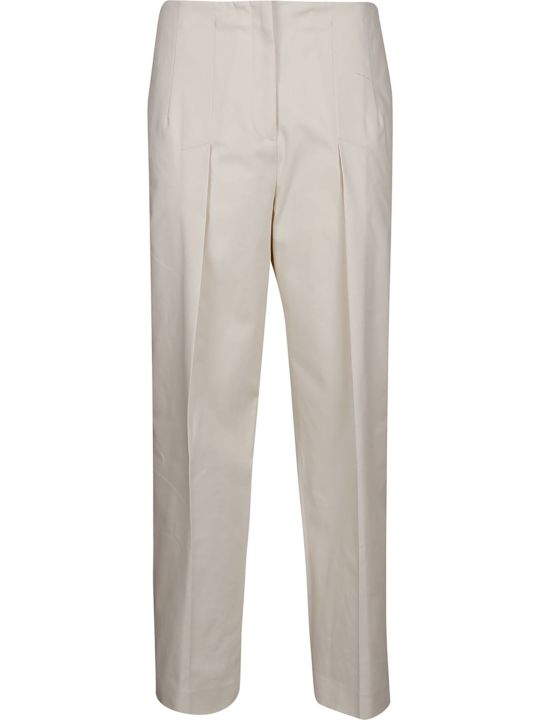 Jil Sander Navy Jil Sander Navy Cropped Stretch Trousers