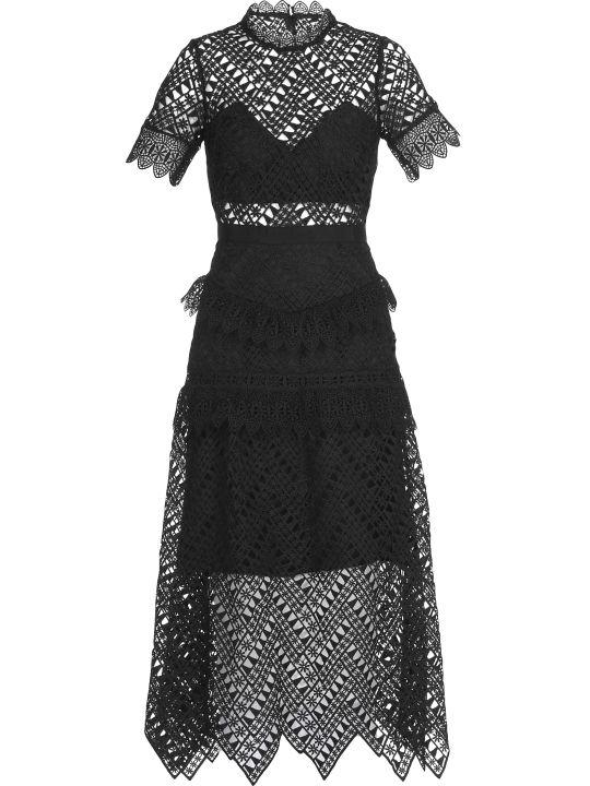 self-portrait Abstract Triangle Midi Dress