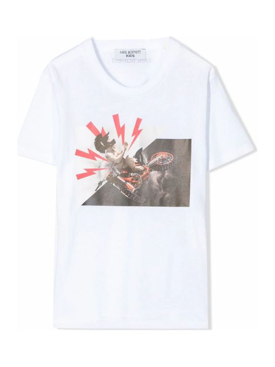 Neil Barrett White Cotton T-shirt