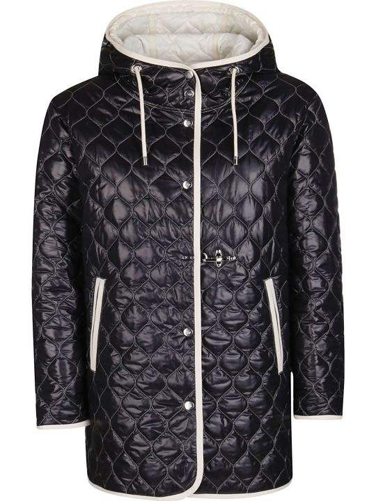 Fay Contrast Trim Quilted Jacket