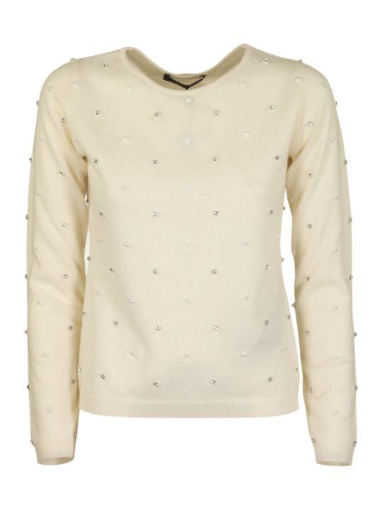 Max Mara Pianoforte Wool Cashmere Jumper Dolmen Vanilla Knitwear