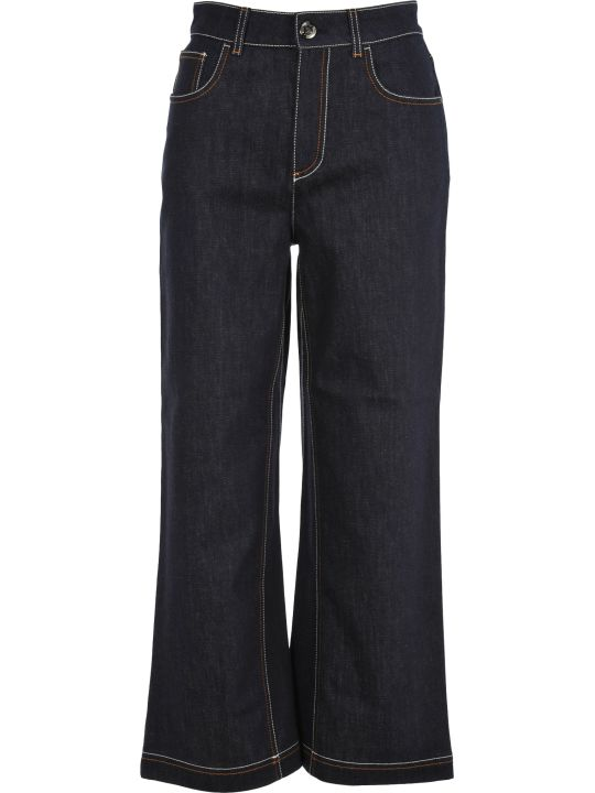 Fendi Fendi Flared Cropped Jeans