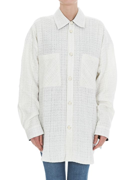 Faith Connexion Oversize Tweed Shirt