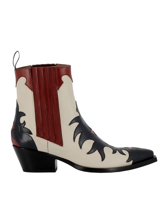 Sartore Multicolor Leather Ankle Boots
