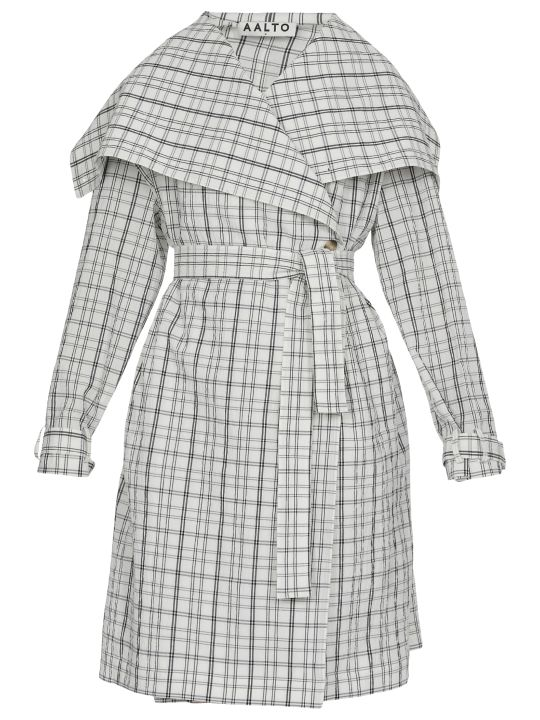 AALTO Check Patterned Overcoat