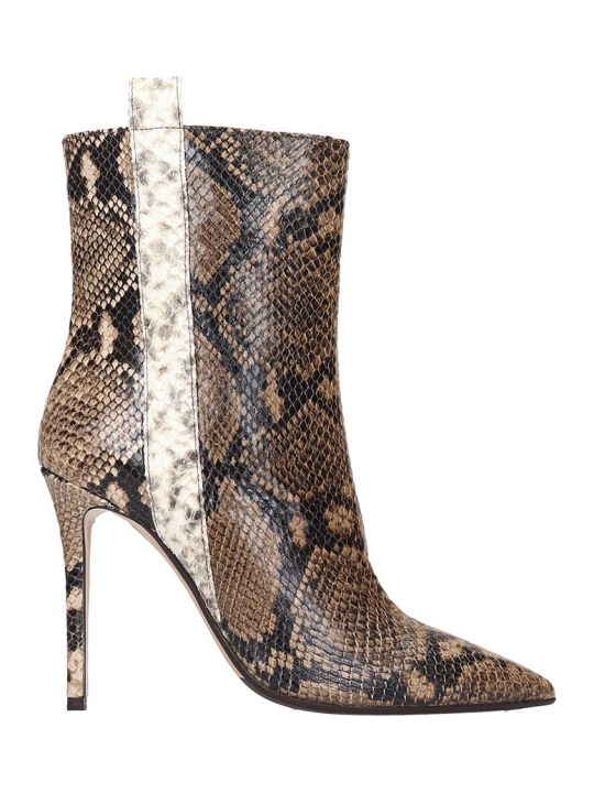 The Seller Ankle Boots In Multicolor Leather