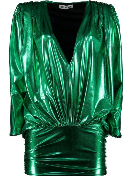 The Attico Lamé Jersey Mini Dress