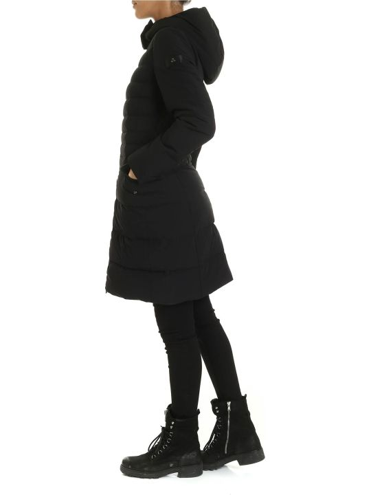 Peuterey Long Down Jacket Viho Ag 01 Black Color