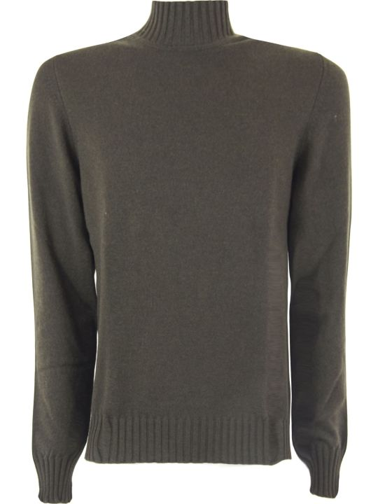 Fedeli Military Green Cashmere Sweater