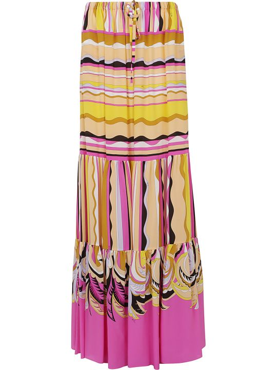 Emilio Pucci Pleated Long Skirt