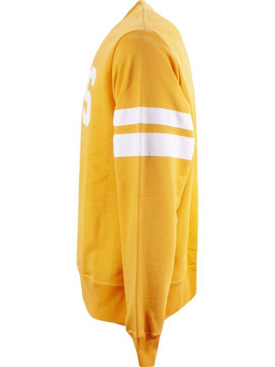 GCDS Orange Cotton Sweatshirt