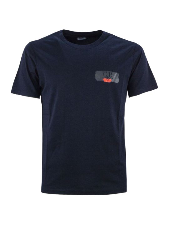C.P. Company Blue Cotton T-shirt