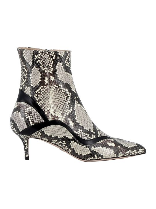 Paula Cademartori Blanc Leather Ankle Boots