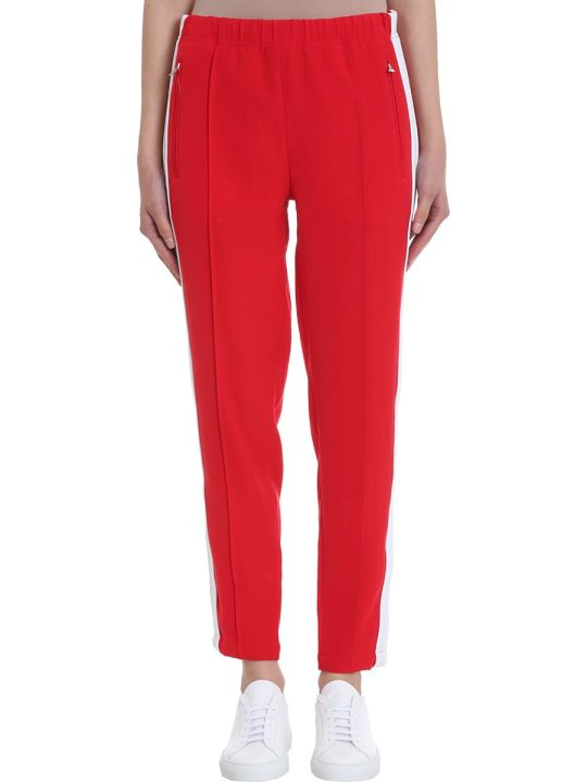 Calvin Klein Jeans Red Polyamide Trousers