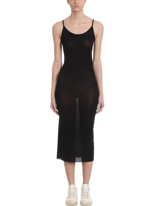 Rick Owens Lilies Black Viscose Slip Dress