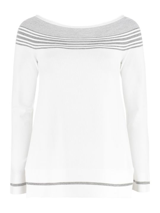 D.Exterior Lurex Details Knitted Top