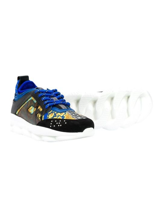 Young Versace Printed Sneakers
