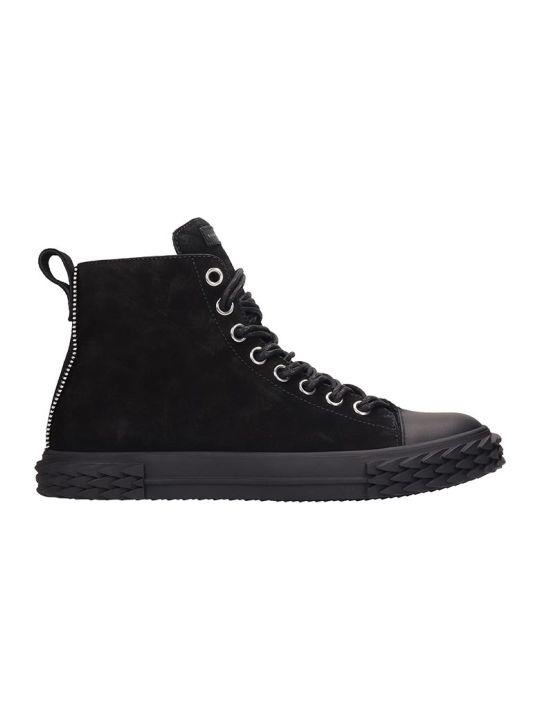 Giuseppe Zanotti Blabber Sneakers In Black Suede