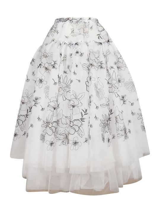 Ermanno Scervino Embroidered Organza Skirt