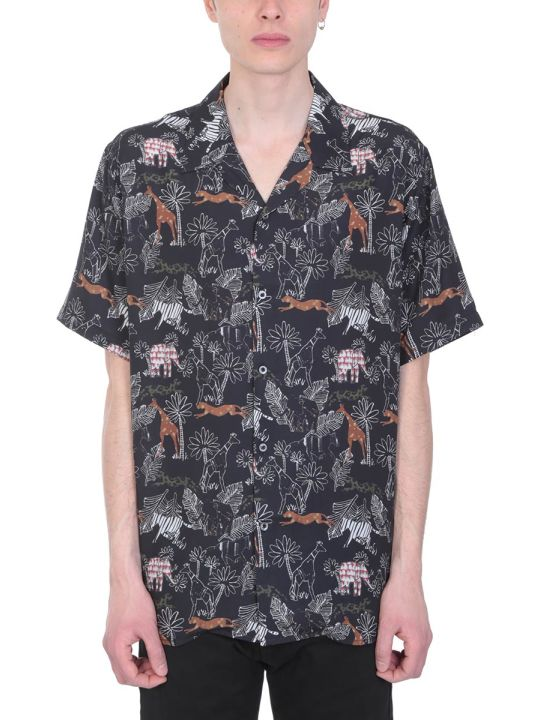 Danilo Paura Safari Viscose Black Multicolor Shirt
