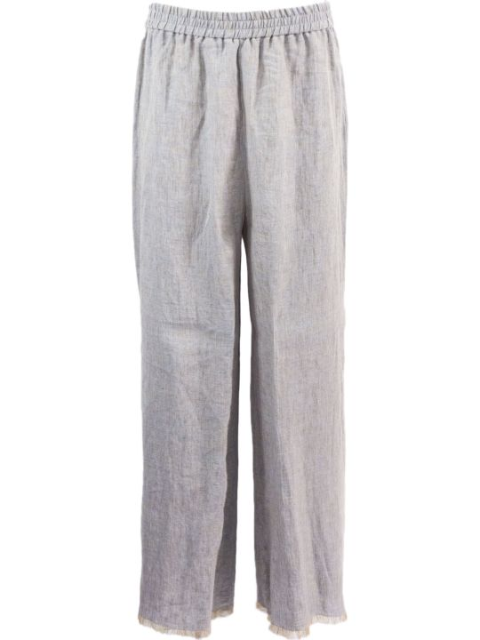Fabiana Filippi Grey Cropped Trousers