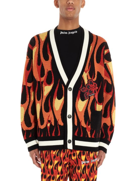 Palm Angels 'burning' Cardigan