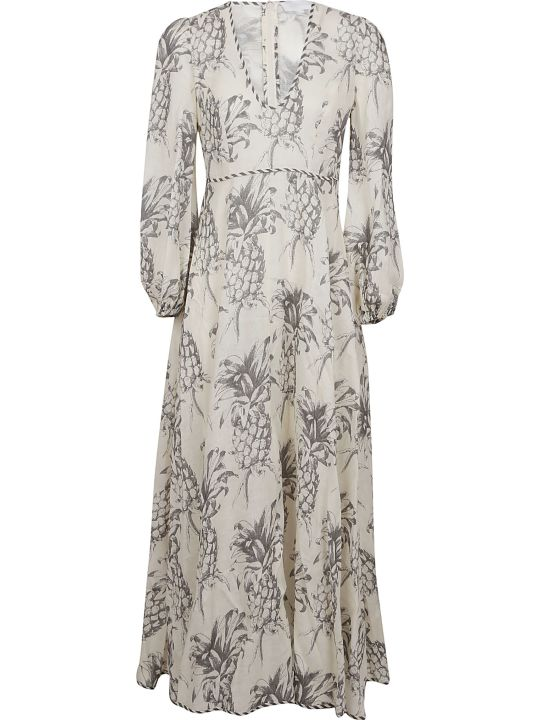Zimmermann Wayfarer Plunge Neck Dress