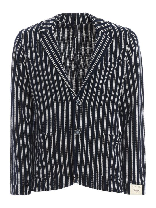 Luigi Bianchi Mantova Knitted Striped Jersey Blazer