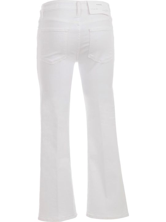 Frame Le Crop Mini Boot Jeans Cropped White