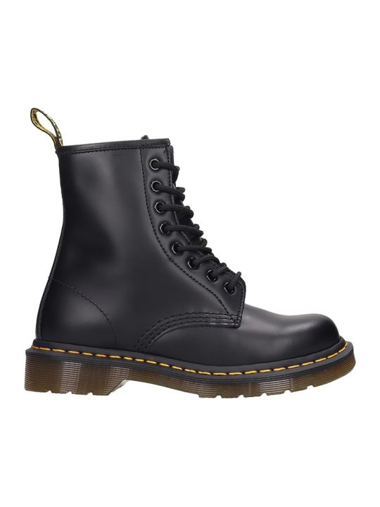 Dr. Martens 1460 8 Eye Combat Boots In Black Leather