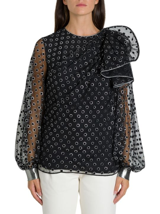 Alberta Ferretti Eyelet Detailed Blouse