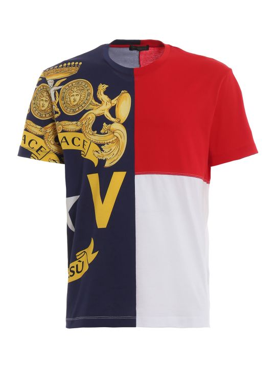 Versace Baroque Color-block T-shirt