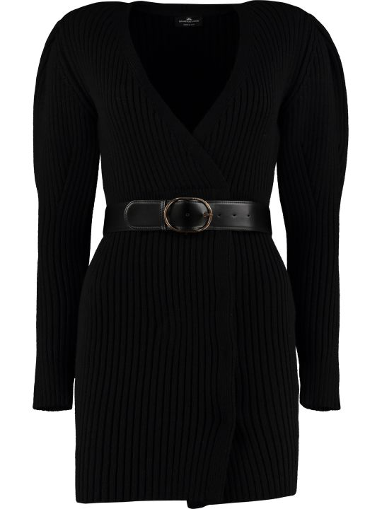 Elisabetta Franchi Celyn B. Belted Knitted Dress