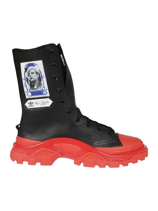Raf Simons Photographic Print Hi-top Sneakers