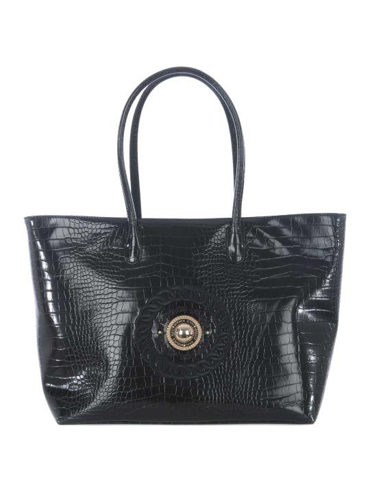 Versace Logo Embossed Shopper Bag