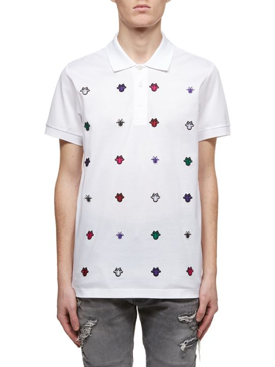 Dior Multiple Embroidered Detail Polo Shirt