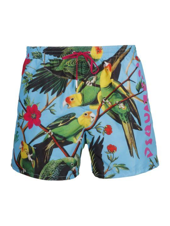 Dsquared2 Tropical Print Swim Shorts