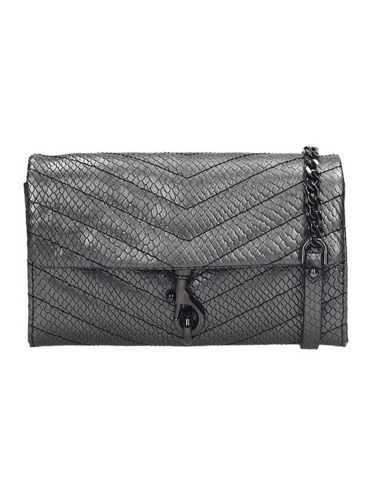 Rebecca Minkoff Eddie  Clutch In Silver Leather