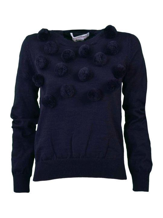 Comme Des Garçons Girl Comme Girl Pom Pom Knitted Sweater