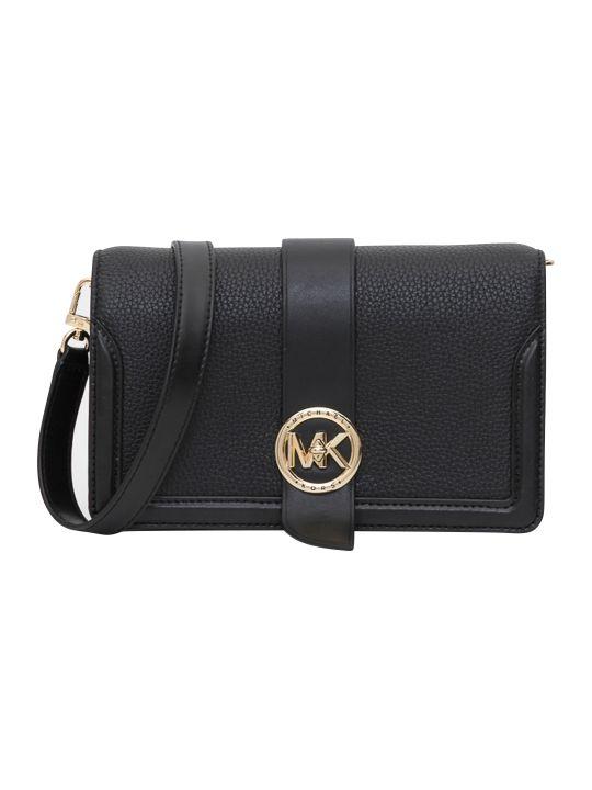 MICHAEL Michael Kors Md Triple Gusset Crossbody Bag In Mercer Pebble Leather