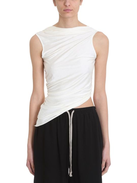 Rick Owens Lilies White Cotton Topwear