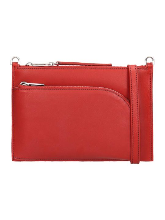 Rick Owens Club Pouch Shoulder Bag In Red Leather