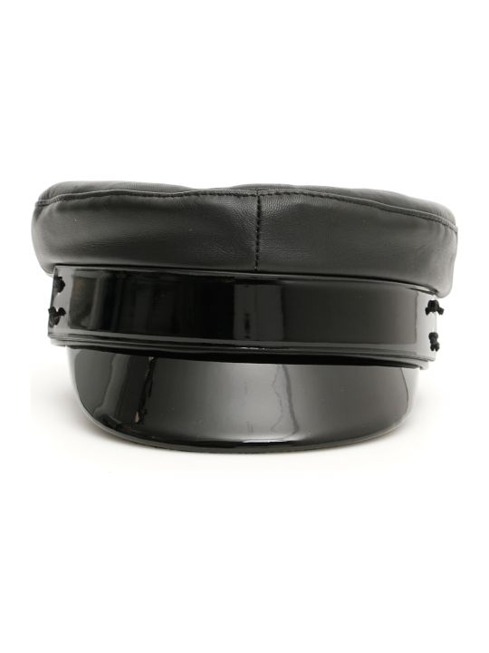 Ruslan Baginskiy Baker Boy Leather Hat