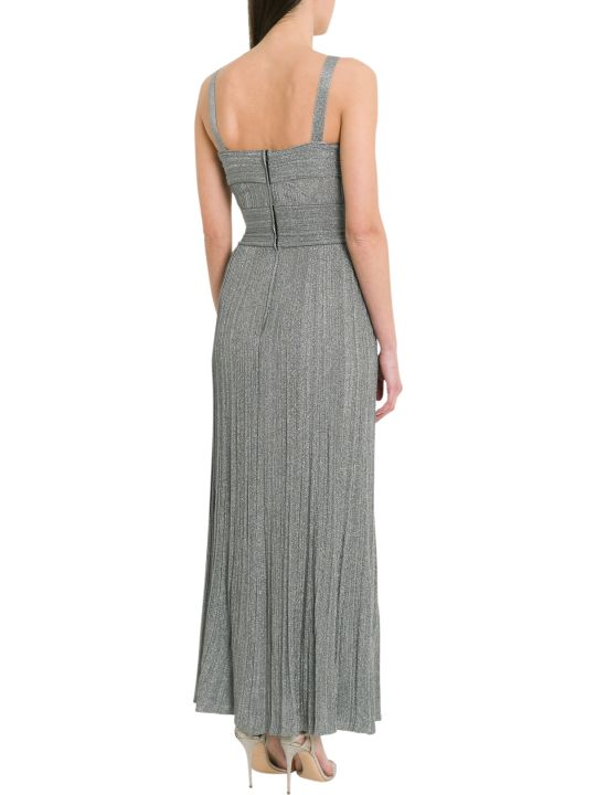 Antonino Valenti Polissena Long Dress In Pleated Lurex
