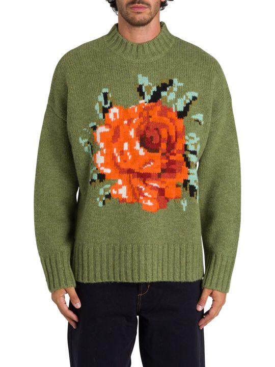 Ami Alexandre Mattiussi Intarsia Flower Pullover
