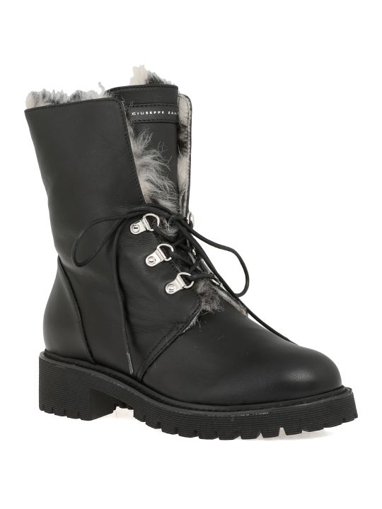 Giuseppe Zanotti Leather Army Boot