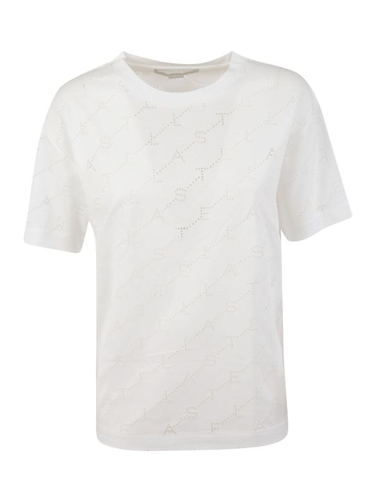 Stella McCartney Logo Perforated T-shirt